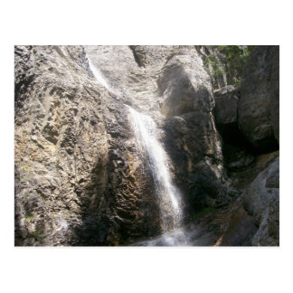 Waterfalling off a rock post cards