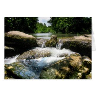 Waterfalls 5 on Barton Creek in Austin Texas Card