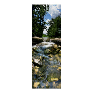 Waterfalls 5 on Barton Creek in Austin Texas Print