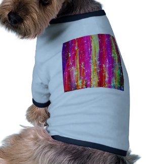 WATERFALLS Abstract Stripes Pink Purple Painting Doggie Tee
