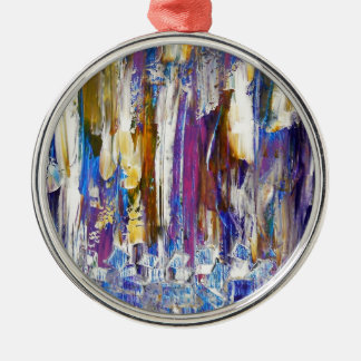 Waterfalls and Ice Cubes Metal Ornament