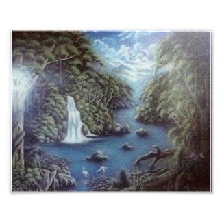 Waterfalls and Jungle Photo Print