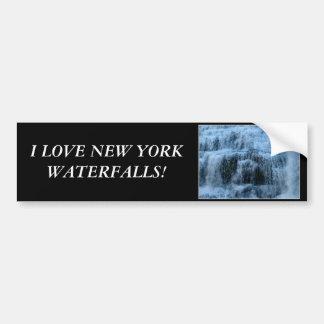 Waterfalls at Ithaca Falls New York Bumper Sticker