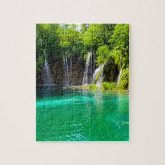 Waterfalls at Plitvice National Park in Croatia Jigsaw Puzzle