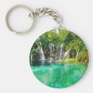Waterfalls at Plitvice National Park in Croatia Keychain