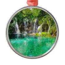 Waterfalls at Plitvice National Park in Croatia Metal Ornament