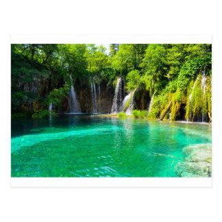 Waterfalls at Plitvice National Park in Croatia Postcard