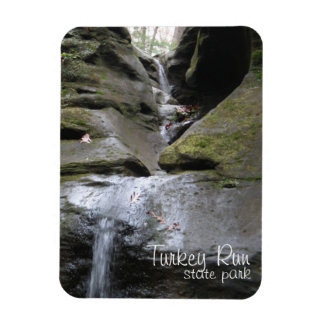 Waterfalls at Turkey Run State Park Rectangular Photo Magnet