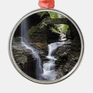 Waterfalls at Watkins Glen, NY Metal Ornament