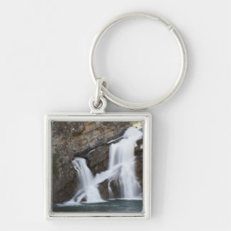 Waterfalls Coming Out Of A Rock Cliff Keychain