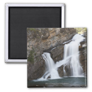 Waterfalls Coming Out Of A Rock Cliff Magnet