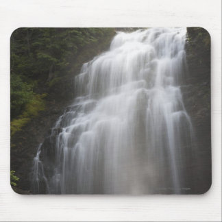 Waterfalls Flowing Down A Rock Cliff Mouse Pad
