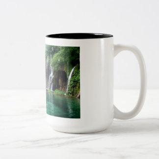 Waterfalls galore Two-Tone coffee mug