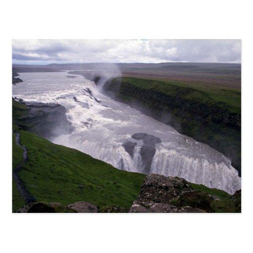 Waterfalls, Gulfoss, Iceland Postcards