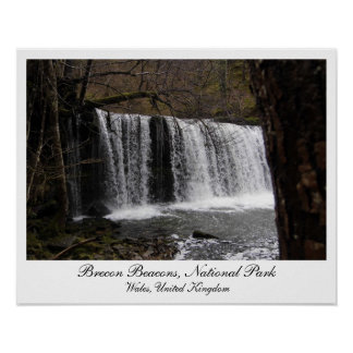 Waterfalls in Brecon Beacons National Park Wales Poster