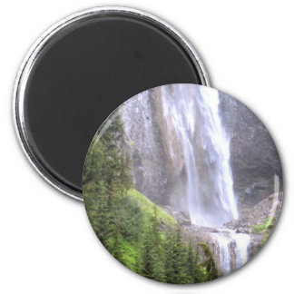 Waterfalls in Mt Rainier National Park Paradise 2 Inch Round Magnet