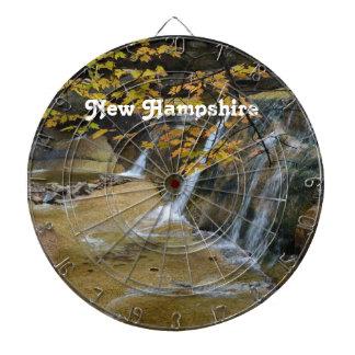 Waterfalls in New Hampshire Dartboard With Darts