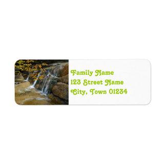 Waterfalls in New Hampshire Return Address Label