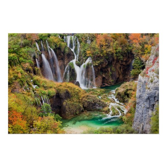 Waterfalls in Plitvice Lakes Poster