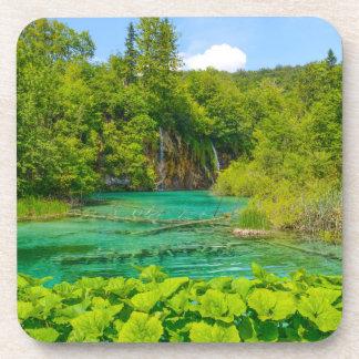 Waterfalls in Plitvice National Park in Croatia Coaster