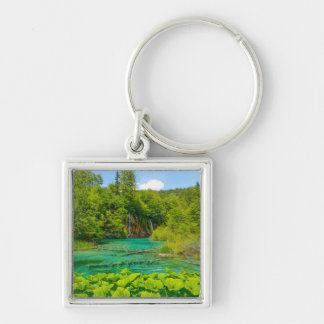Waterfalls in Plitvice National Park in Croatia Keychain