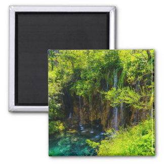 Waterfalls in Plitvice National Park in Croatia Magnet