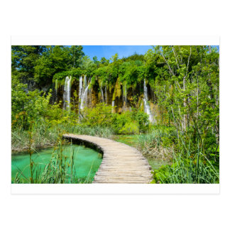 Waterfalls in Plitvice National Park in Croatia Postcard