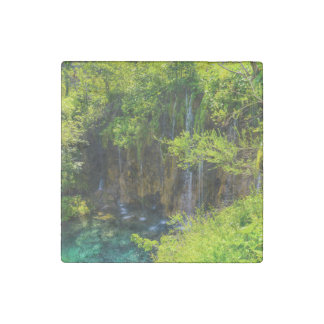 Waterfalls in Plitvice National Park in Croatia Stone Magnet