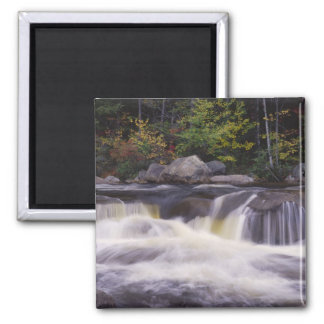 Waterfalls, Kancamagus Highway, White 2 Inch Square Magnet