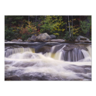 Waterfalls, Kancamagus Highway, White Photo Print