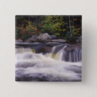 Waterfalls, Kancamagus Highway, White Pinback Button