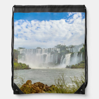 Waterfalls Landscape at Iguazu Park Drawstring Bag