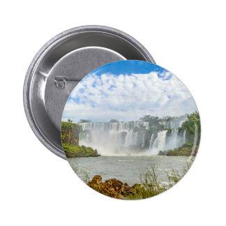 Waterfalls Landscape at Iguazu Park Pinback Button