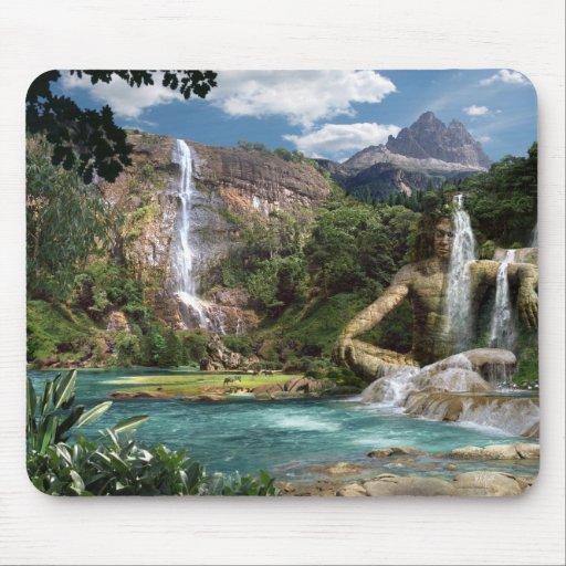 Waterfalls Mountain - mouse PAD