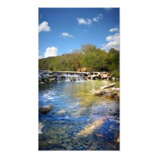 Waterfalls on Barton Creek in Austin Texas 2 Photographic Print