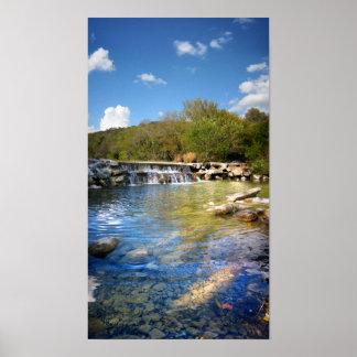 Waterfalls on Barton Creek in Austin Texas 2 Print