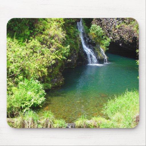 Waterfalls on the Road to Hana, Maui, Hawaii Mouse Pad