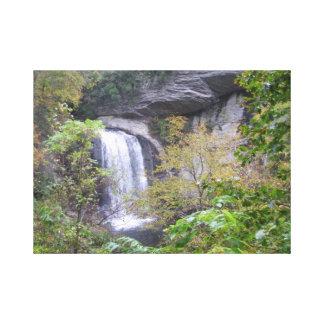 Waterfalls Painting Canvas Print