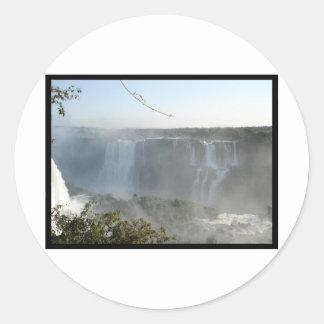 Waterfalls Picture! Iguazu Falls! Classic Round Sticker