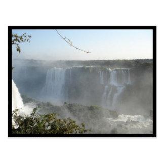 Waterfalls Picture! Iguazu Falls! Postcard