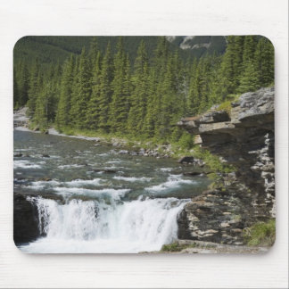 Waterfalls With Rock Ledge And A Mountain Mouse Pad
