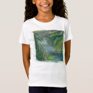Waterfalls with rock painting called  'Chief' T-Shirt