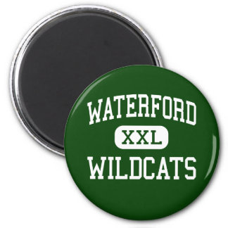 Waterford - gatos monteses - alto - Waterford Ohio Imán Para Frigorifico