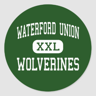 Waterford Union - Wolverines - High - Waterford Classic Round Sticker