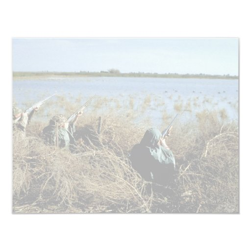 "Waterfowl Hunting 4.25"" X 5.5"" Invitation Card"