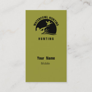 Duck hunting business cards zazzle waterfowl hunting business card colourmoves