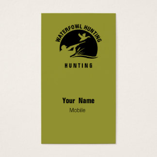 Waterfowl Hunting Business Card
