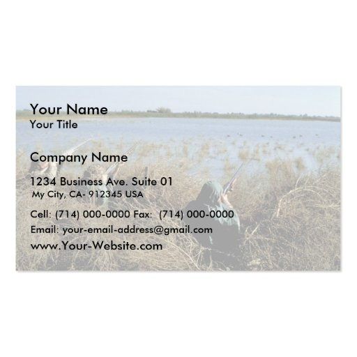 Waterfowl hunting business card templates bizcardstudio waterfowl hunting business card template colourmoves