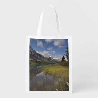 Waterfowl lake along the Icefields parkway, Reusable Grocery Bags