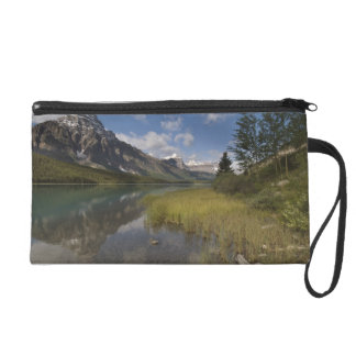 Waterfowl lake along the Icefields parkway, Wristlet Purse